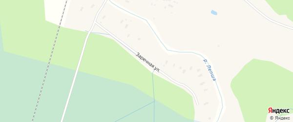 Заречная улица на карте Лепши-Нового поселка с номерами домов