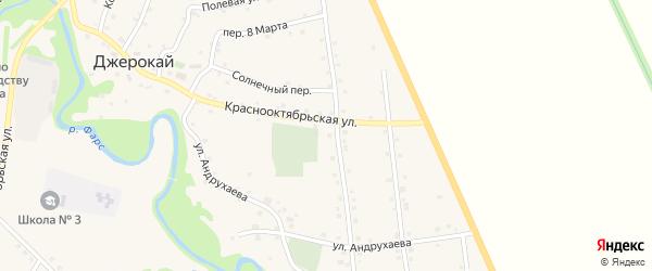 Дорога А/Д Подъезд к а. Джерокай на карте аула Джерокая с номерами домов