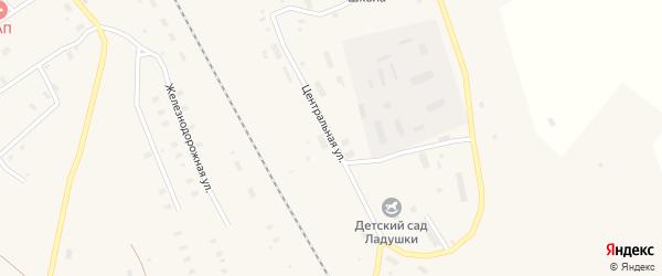 Центральная улица на карте поселка Строителя с номерами домов