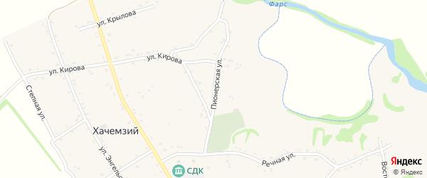Пионерская улица на карте Хачемзия аула с номерами домов