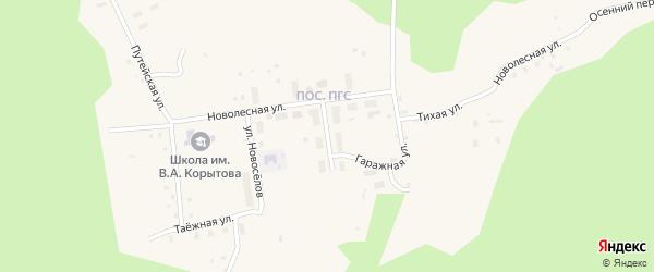 Улица Строителей на карте поселка Коноши с номерами домов