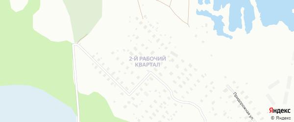Рабочий 2-й квартал на карте Архангельска с номерами домов