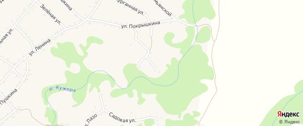 Улица Фрунзе на карте Кужорской станицы с номерами домов