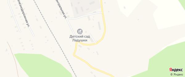 Лесной переулок на карте поселка Пуксы с номерами домов