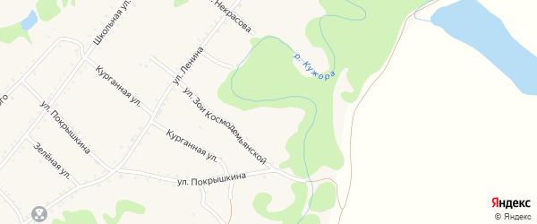 Речной переулок на карте Кужорской станицы с номерами домов