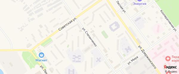 Улица Степанченко на карте Мирного с номерами домов