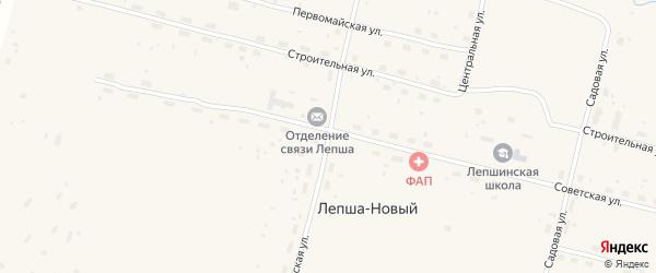Октябрьская улица на карте Лепши-Нового поселка с номерами домов