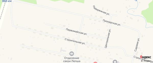 Первомайская улица на карте Лепши-Нового поселка с номерами домов