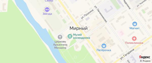 Площадь имени В.И.Ленина на карте Мирного с номерами домов