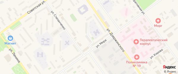 Молодежный переулок на карте Мирного с номерами домов