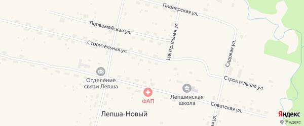 Улица Заречная Тупик на карте Лепши-Нового поселка с номерами домов