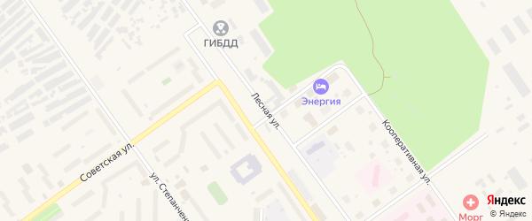Лесная улица на карте Мирного с номерами домов
