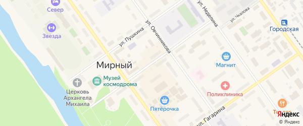 Улица Чайковского на карте Мирного с номерами домов