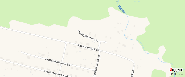 Набережная улица на карте железнодорожной станции Лепши с номерами домов