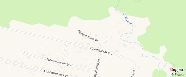 Набережная улица на карте Лепши-Нового поселка с номерами домов