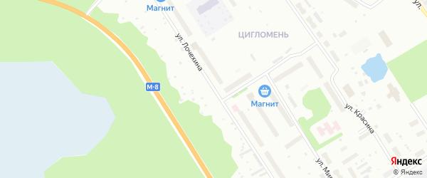 Улица Л.Н.Лочехина на карте Архангельска с номерами домов