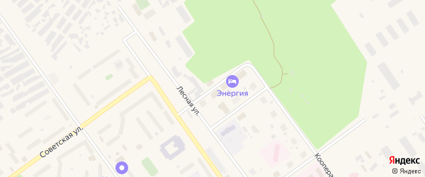 Комсомольская улица на карте Мирного с номерами домов