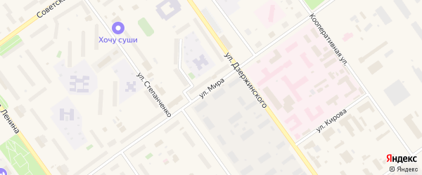 Улица Мира на карте Мирного с номерами домов