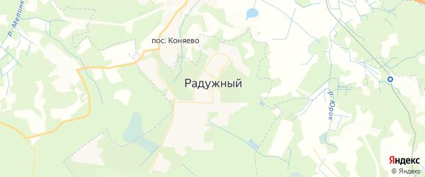 Карта Радужного с районами, улицами и номерами домов