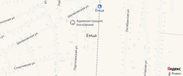 Колхозная улица на карте поселка Емцы с номерами домов