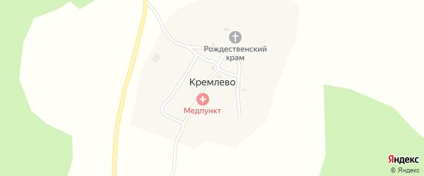 Солнечная улица на карте деревни Кремлево с номерами домов