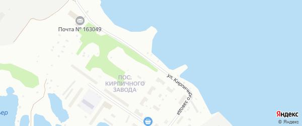 Улица Кирпичного завода на карте Архангельска с номерами домов