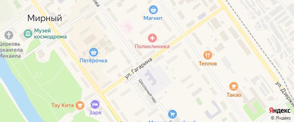 Улица Гагарина на карте Мирного с номерами домов