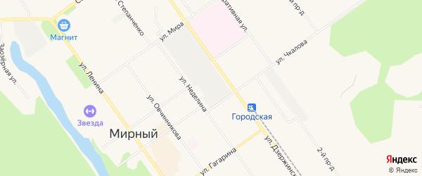 Карта садового некоммерческого товарищества СОТА Лиственницы города Мирного в Архангельской области с улицами и номерами домов