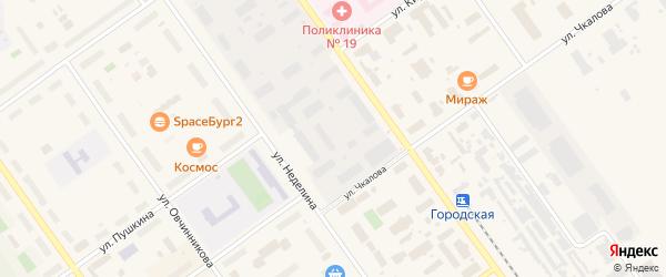 Промышленная улица на карте Мирного с номерами домов