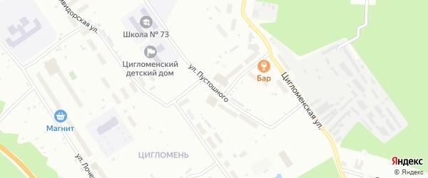 Улица Пустошного на карте Архангельска с номерами домов