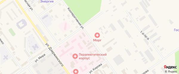 Кооперативная улица на карте Мирного с номерами домов