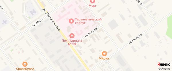 Улица Кирова на карте Мирного с номерами домов