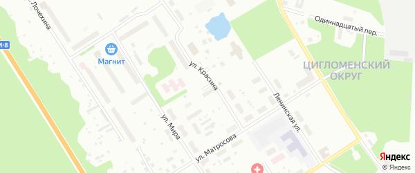Водоемная улица на карте Архангельска с номерами домов