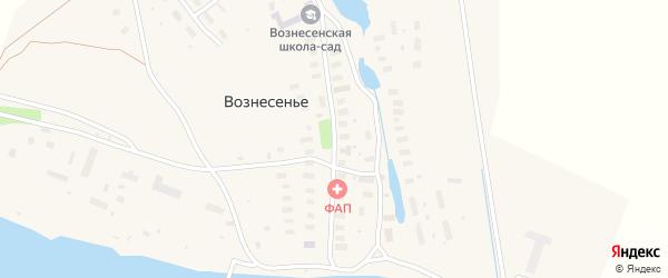 Центральная улица на карте села Вознесения с номерами домов