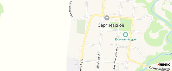 Выгонная улица на карте Сергиевского села с номерами домов