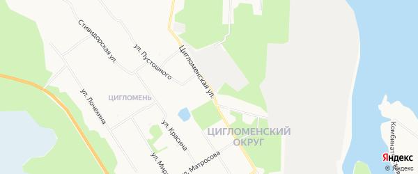 ГСК Автомобилист на карте Цигломенской улицы с номерами домов