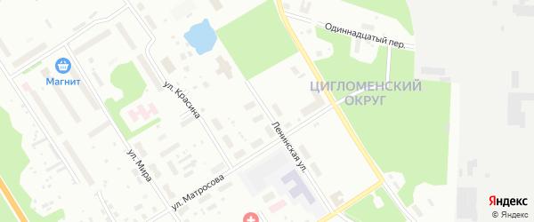Ленинская улица на карте Архангельска с номерами домов