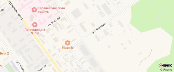 Улица Чкалова на карте Мирного с номерами домов