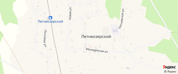 Почтовая улица на карте Летнеозерского поселка с номерами домов