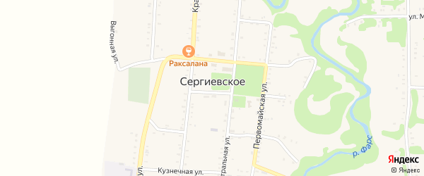 А/Д Кужорская-Сергиевское-Дондуковская дорога на карте Сергиевского села с номерами домов