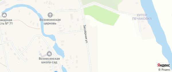 Заозерная улица на карте села Вознесения с номерами домов