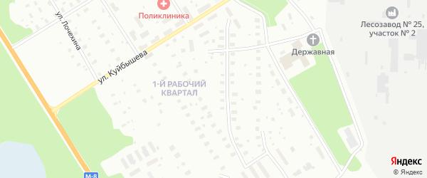Рабочий 1-й квартал на карте Архангельска с номерами домов