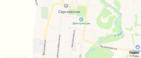 Больничная улица на карте Сергиевского села с номерами домов