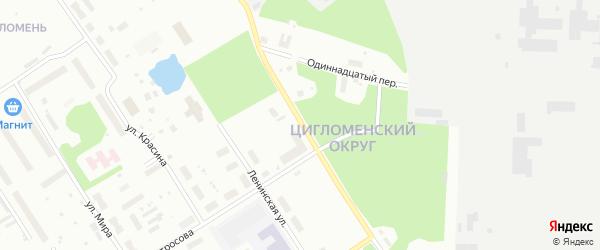 Цигломенская улица на карте Архангельска с номерами домов