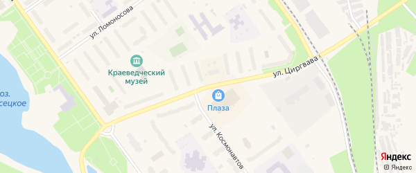 Улица Циргвава на карте Мирного с номерами домов