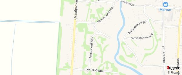 Таманский переулок на карте Дондуковской станицы с номерами домов