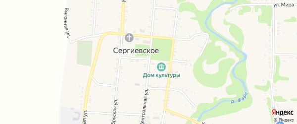Центральная улица на карте Сергиевского села с номерами домов