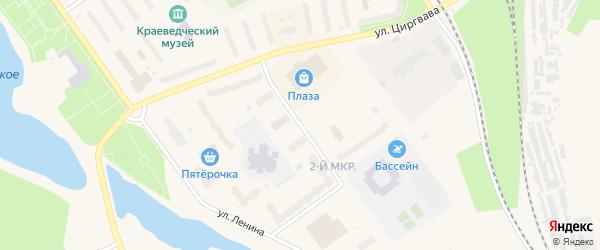 Улица Космонавтов на карте Мирного с номерами домов