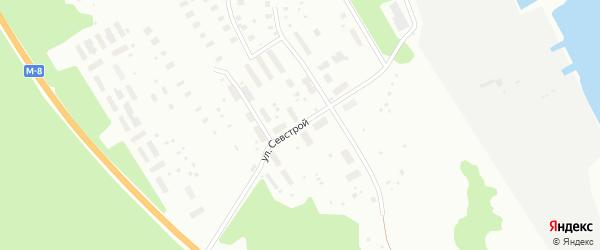 Улица Севстрой на карте Архангельска с номерами домов