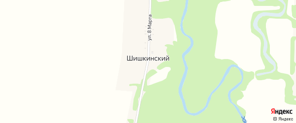 Дорога А/Д Подъезд к х. Шишкинский на карте Шишкинского хутора с номерами домов